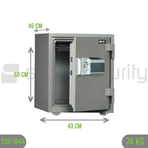 Bumil safe ESD 104A 74KG Fireproof Home and Business Safe Box