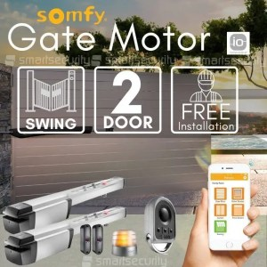 2 Swinging Gate Motorization Kit with Mobile App and Remote For Parking and Garage Door