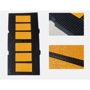 This is a picture of the RUBBER SPEED BUMP 90CM provided by Smart Security in Lebanon