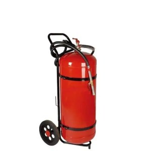 This is a picture of the 25 KG Fire Extinguisher that uses powder provided by Smart Security in Lebanon