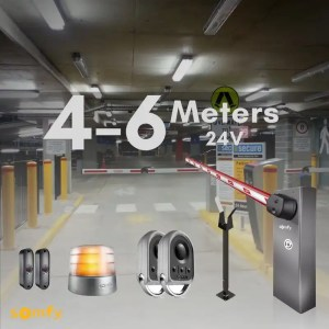 Somfy Automatic Parking Barrier Gate Fast Levixo 24V 40 / 60 RTS