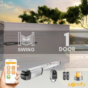 1 Swinging Gate Motorization Kit with Mobile App and Remote For Parking and Garage Door