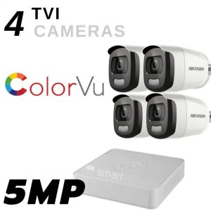 Colored Night Vision 4 Extreme HD camera TVI 5MP Security System Outdoor and Indoor with 1 TB HDD complete kit