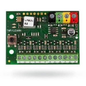 Technical specifications Power from the control panel digital BUS 12 V (9 … 15 V) Current consumption in standby mode 5 mA Current consumptionfor cable choice 15 mA Dimensions 50 x 38 x 14 mm Classification Grade 2 according to EN 50131-1, EN 50131-3 Operational environment according to EN 50131-1 II. Indoor general Operating temperature range -10 to +40 °C Also complies with EN 50130-4, EN 55022