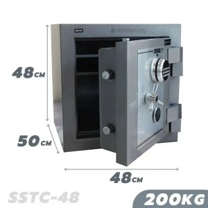 This is a picture of the SALVADO Safe COBRA SSTC 48 200KG FIRE AND BURGLARY SAFE provided by Smart Security in Lebanon