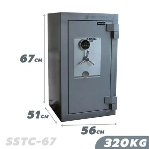 This is a picture of the SALVADO Safe COBRA SSTC 67 320KG FIRE AND BURGLARY SAFE provided by Smart Security in Lebanon