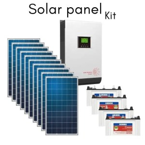 This is a picture of the Solar panel system kit provided in Lebanon by Smart Security