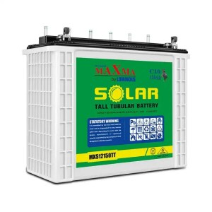 This is a picture of the Maxma Tubular Battery 12V-150AH Deep Cycle provided by Smart Security in Lebanon