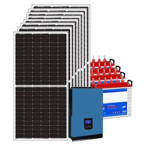 This is a picture of the Solar Energy System Kit 16 AMPS sold in Lebanon by Smart Security