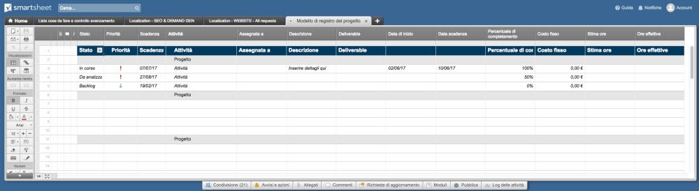 medium resolution of project tracker smartsheet it