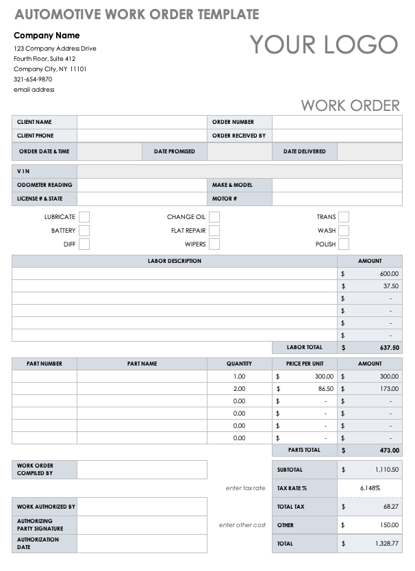 Its integrity has been maintained. 15 Free Work Order Templates Smartsheet