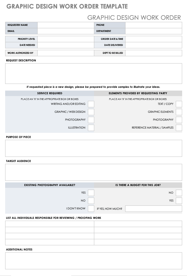 A maintenance request form can simplify the maintenance request process as using these will standardize your method of handling maintenance. 15 Free Work Order Templates Smartsheet