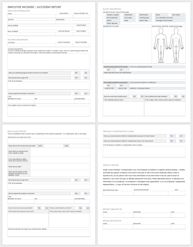 Free Workplace Accident Report Templates  Smartsheet
