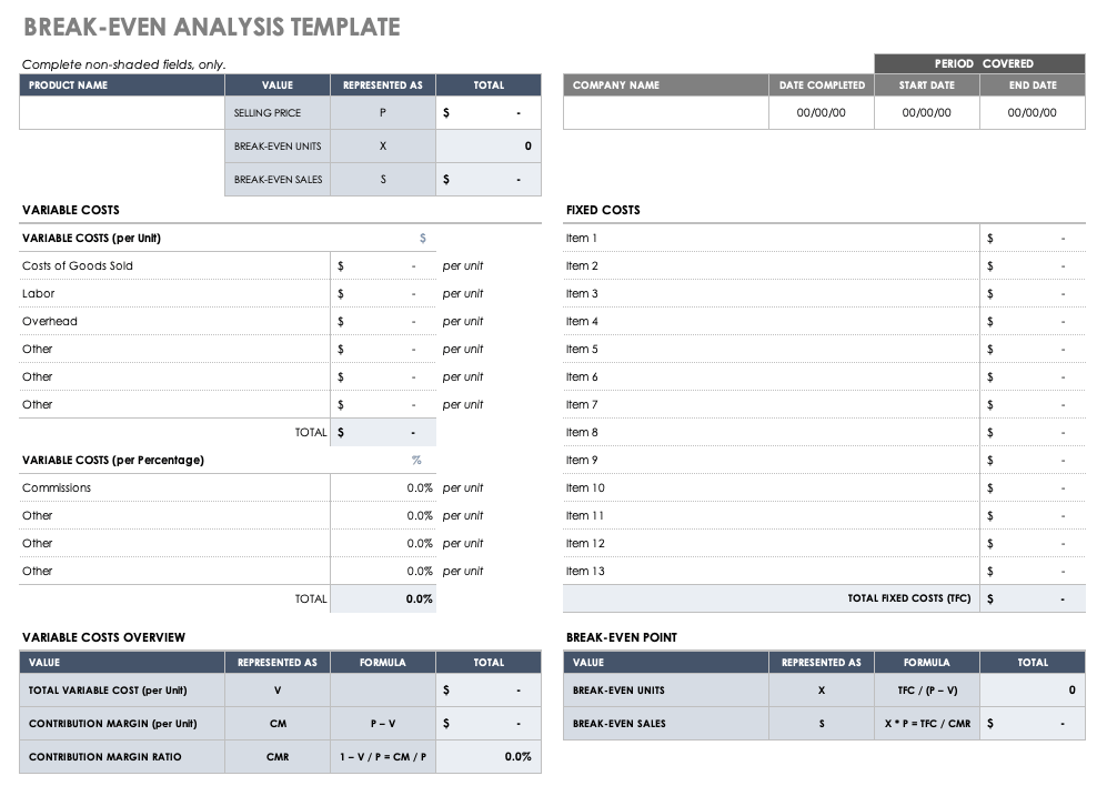 It's impossible to eliminate all business risk. Business Plan Financial Templates Smartsheet