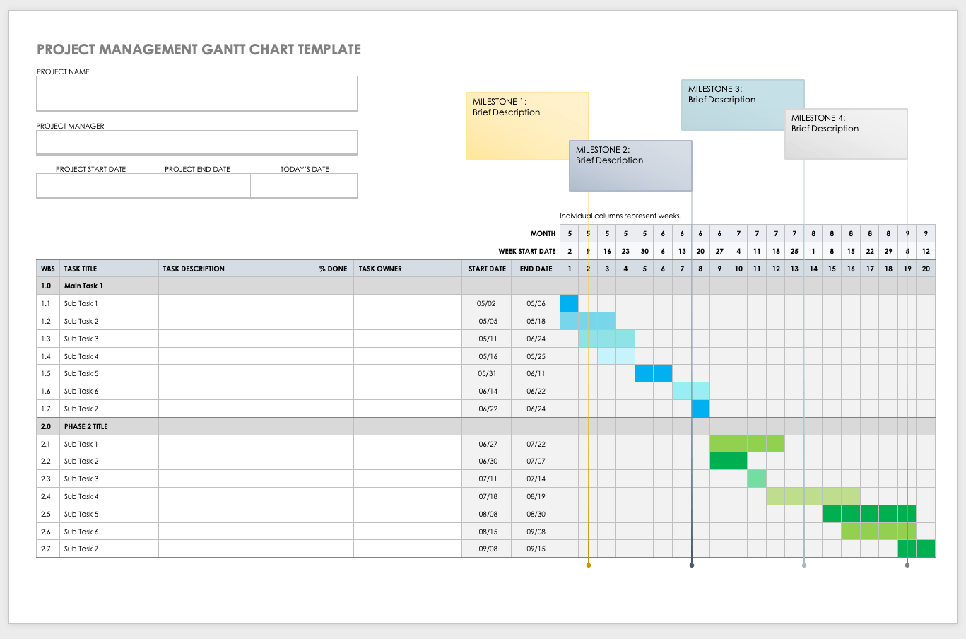 21/02/2021· create a project schedule and track your progress with this gantt chart template. Free Gantt Chart Templates In Ms Word Smartshee