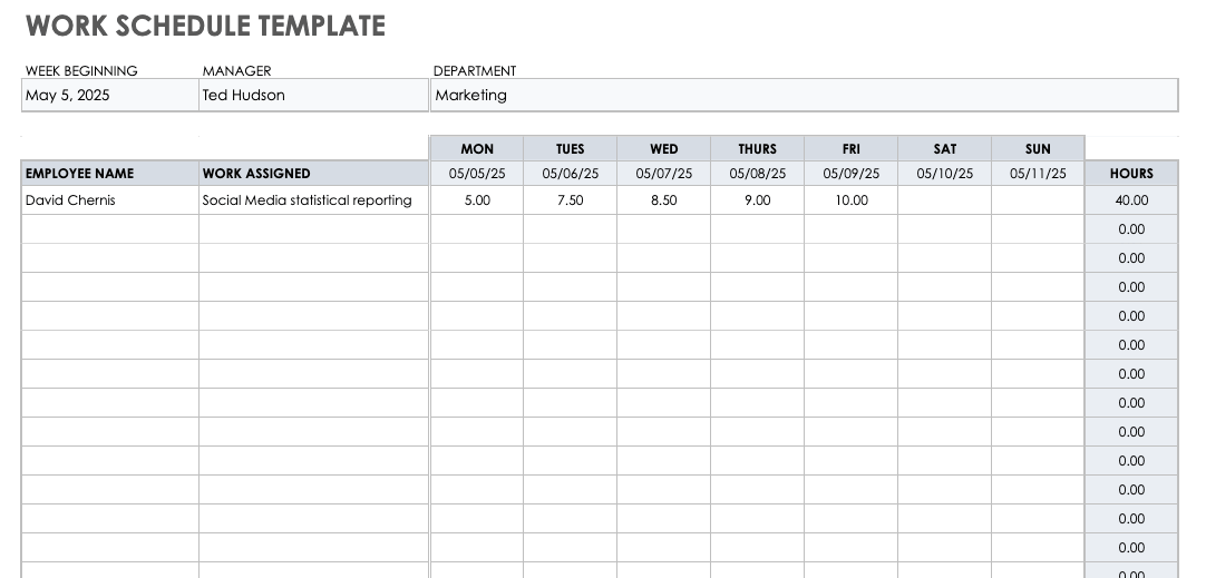 You can use programs such as microsoft word, apple pages, or even publisher to open and make whatever changes until you can create the production schedule you need. Free Google Sheets Scheduling Templates Smartsheet
