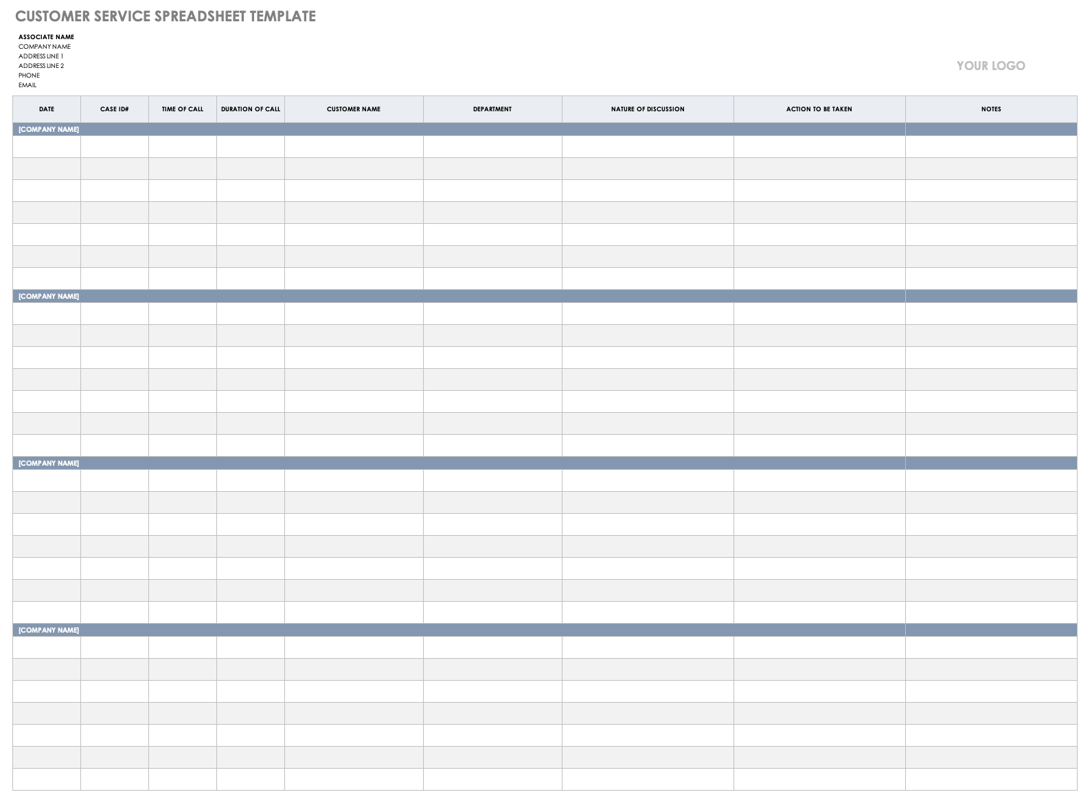 Hospitals, doctor's offices, and other healthcare organizations can use this free contact tracing form to collect contact details, emergency contact information, and the location and contact details of individuals who have come into contact with the patient. Free Call Tracking Templates Smartsheet