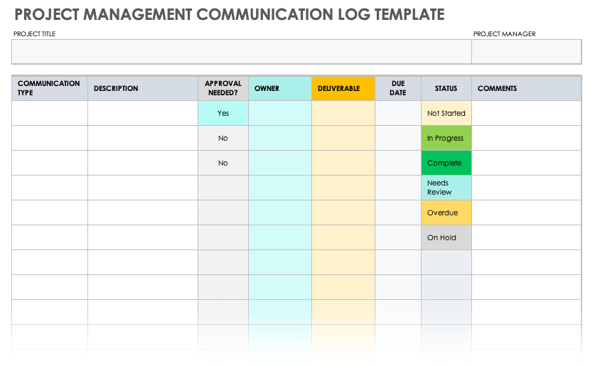 All of these templates are available in various layouts, samples, and styles to ensure that you define your project's goals, objectives, mission statement , … Free Project Communication Templates Smartsheet