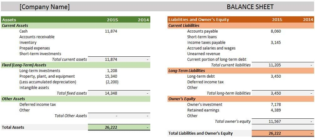 balance sheet account reconciliation template