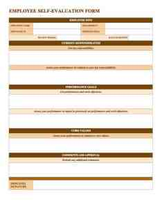 Employeeselfevaluationform wordg also free employee performance review templates smartsheet rh