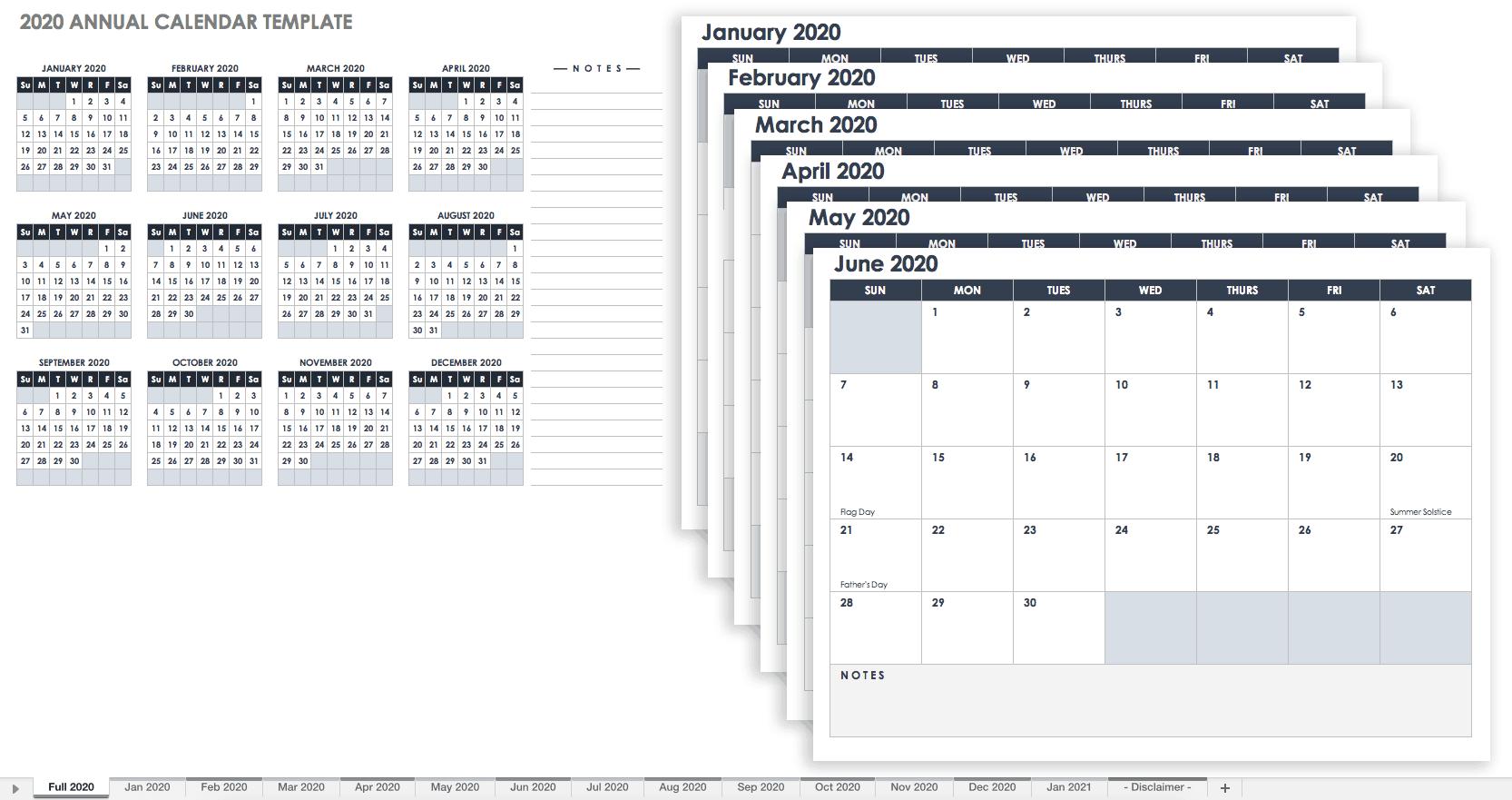 free online editable calendar