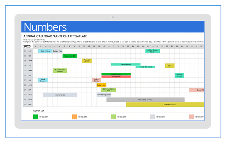 This article explains how to create a project schedule and a calculation table to generate a gantt ch. Free Gantt Templates For Apple Numbers On Mac Smartsheet