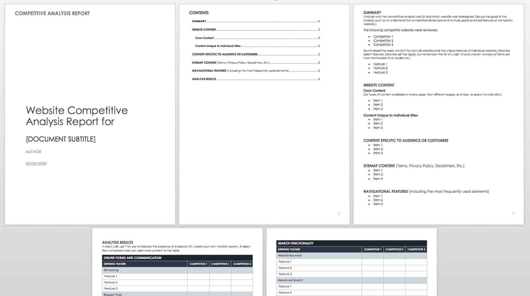 19/03/2018· competitive analysis template for evaluating results vs. Free Competitive Analysis Templates Smartsheet