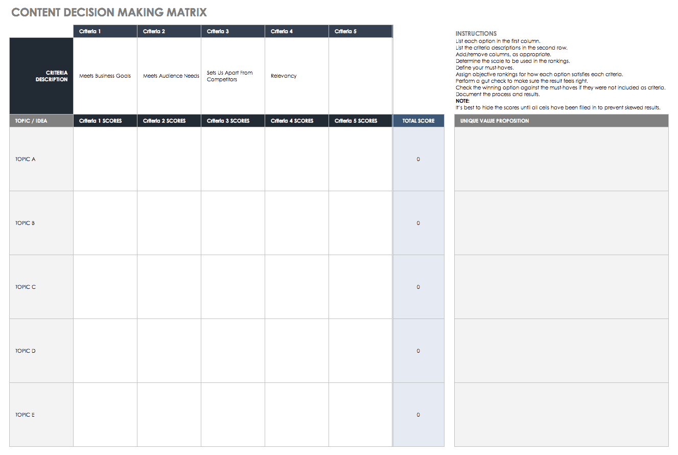 10 Free Content Plan Templates