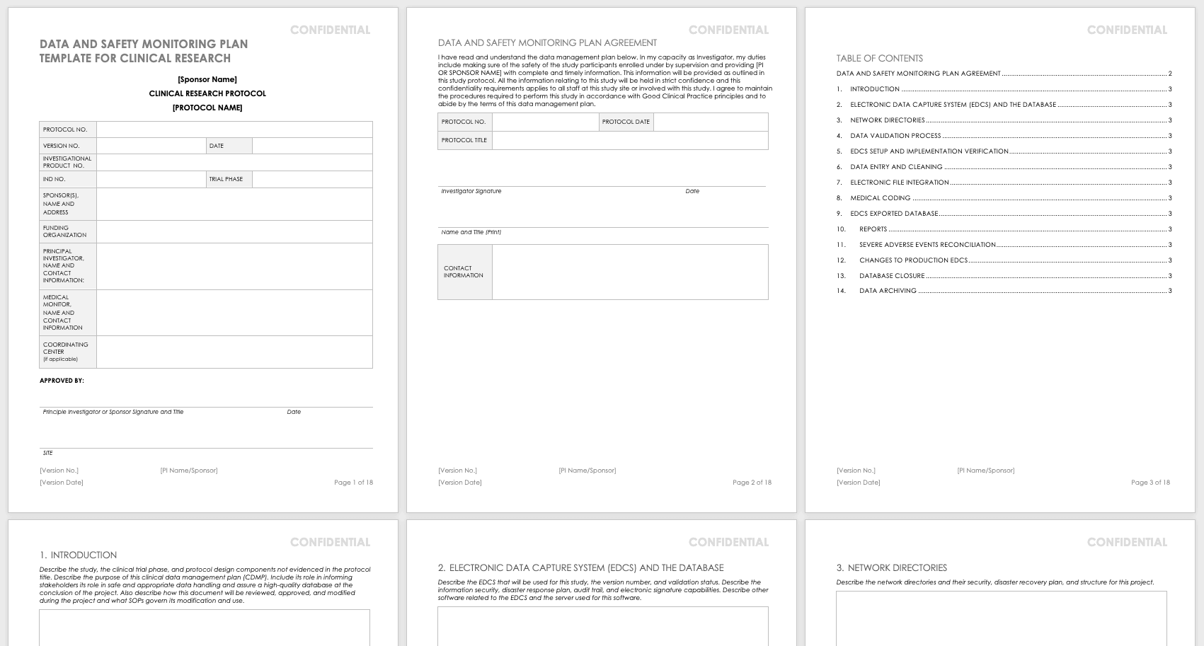 Free Clinical Trial Templates