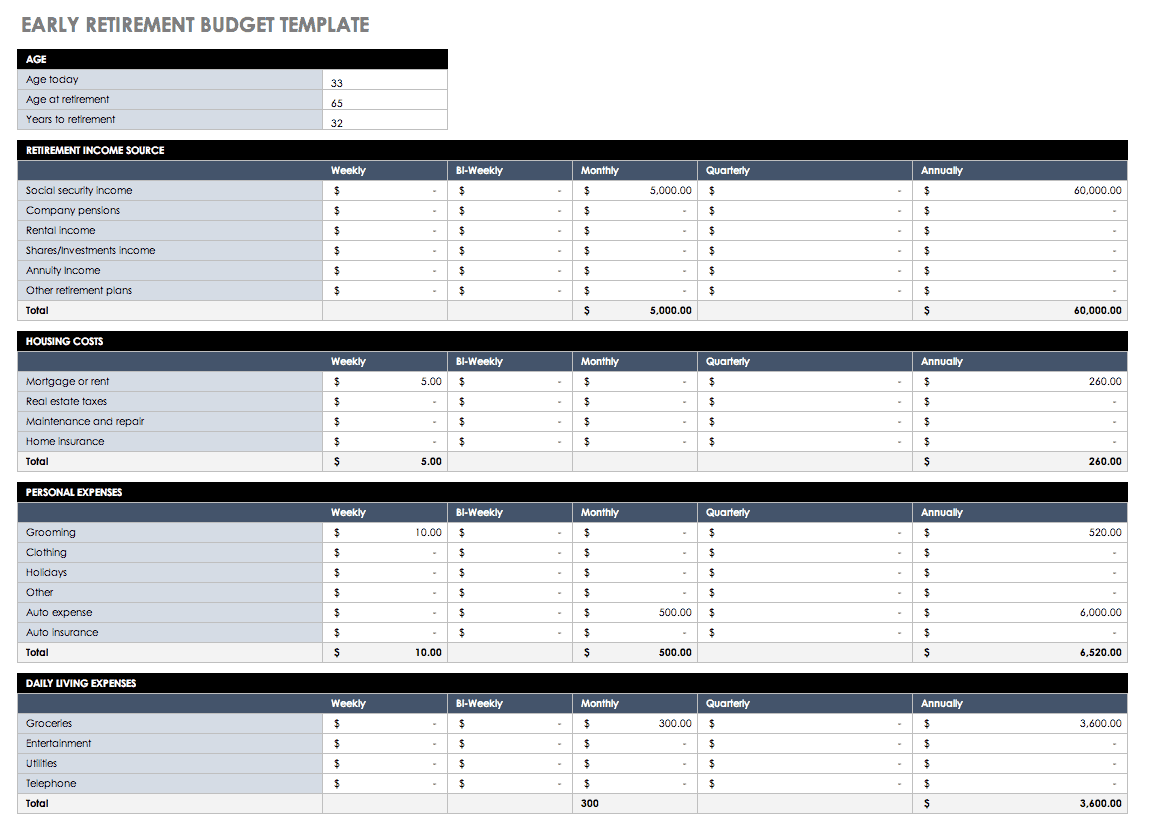 Sample Excel Templates Spending Plan Worksheet Excel