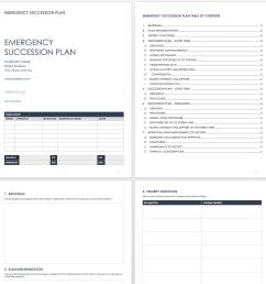 emergency succession plan template [ 1390 x 1405 Pixel ]