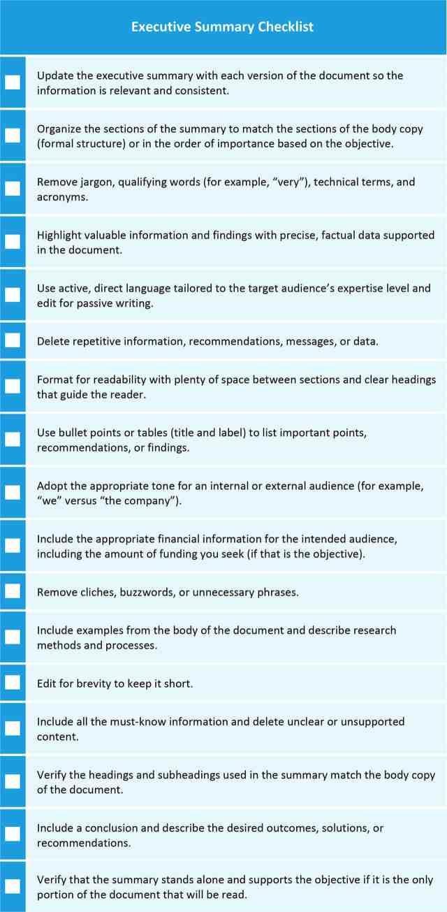 How to Write an Executive Summary  Smartsheet