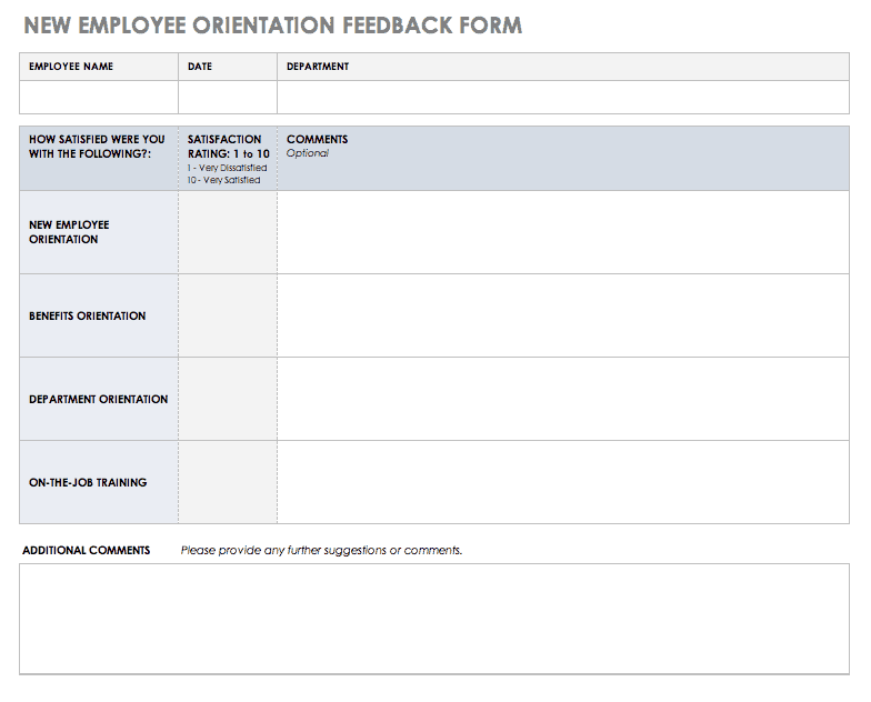 Auditor feedback form the.gov means it's official.federal government websites often end in.gov or.mil. Free Feedback Form Templates Smartsheet
