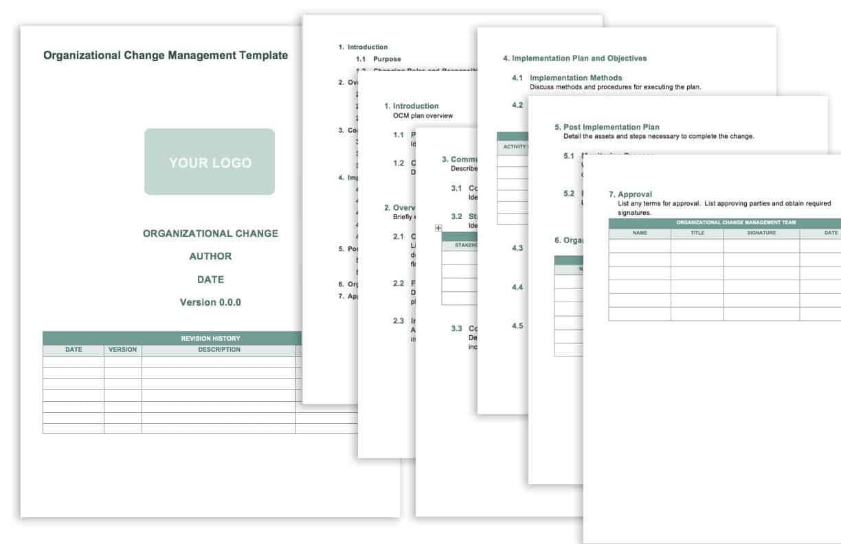 In the event of a staff shuffle in a company, it may trigger a sort of disarray within the organization. Free Change Management Templates Smartsheet