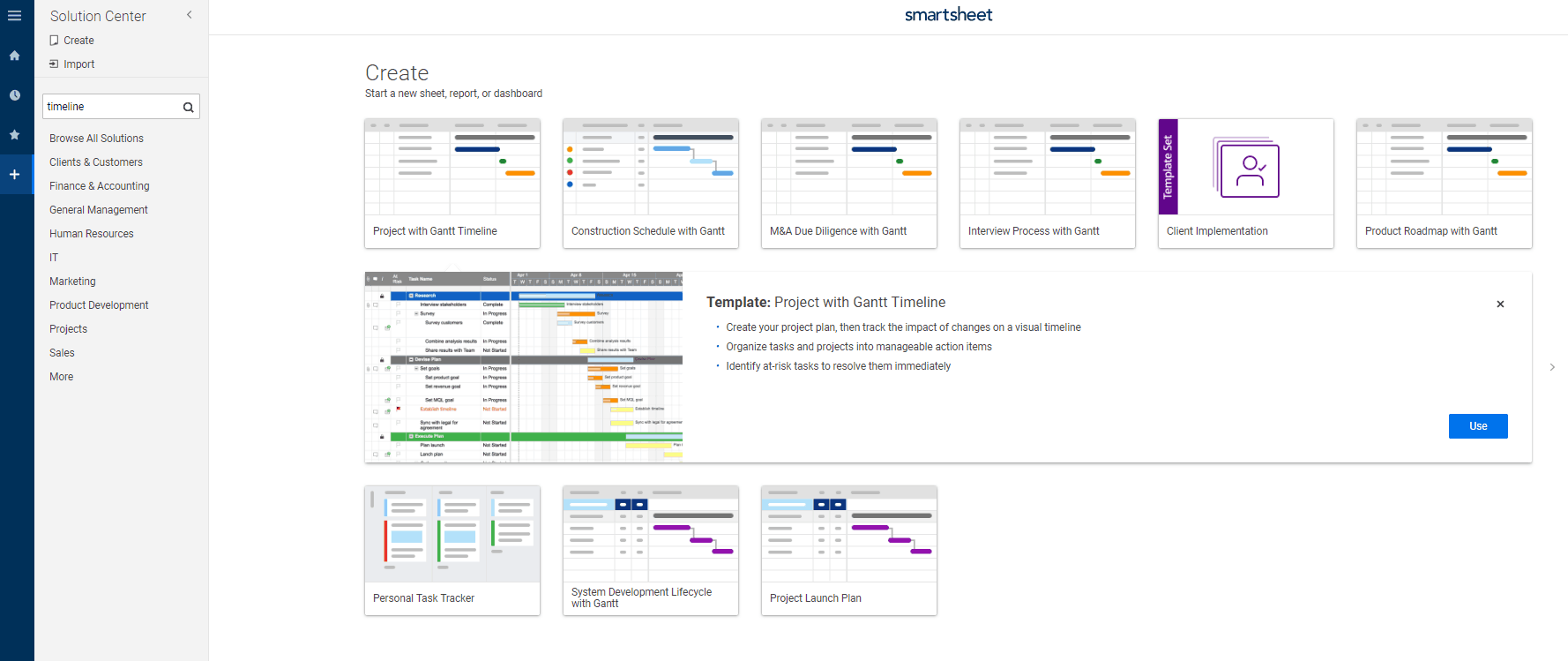 hight resolution of project with gantt timeline smartsheet