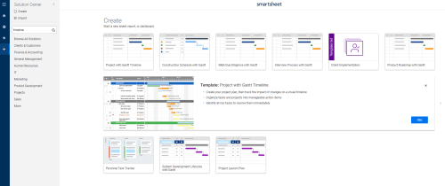 small resolution of project with gantt timeline smartsheet