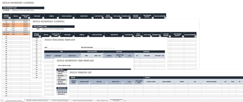 Free Excel Inventory Templates Create