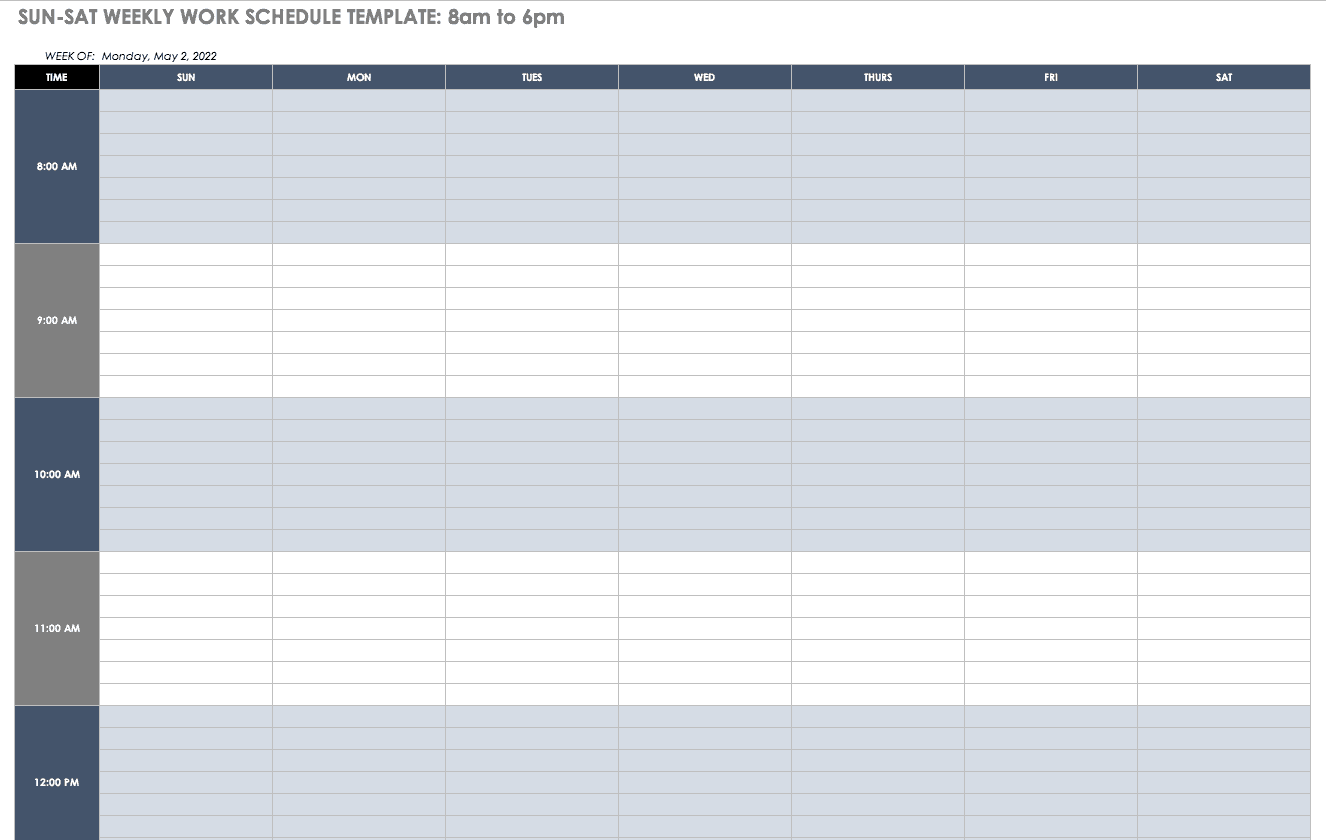 Tax forms, federal schedule a this schedule is used to calculate any itemized deductions you may qualify for from you tax payment. Free Work Schedule Templates For Word And Excel Smartsheet