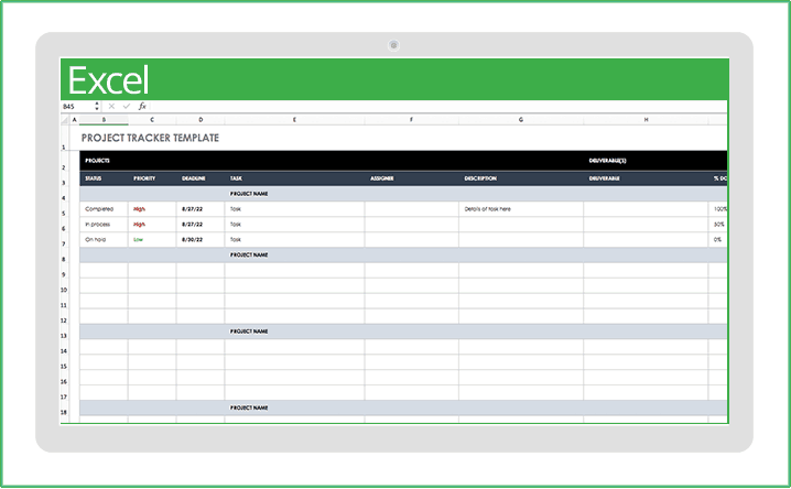 Read our report on div. Free Excel Project Management Templates Smartsheet