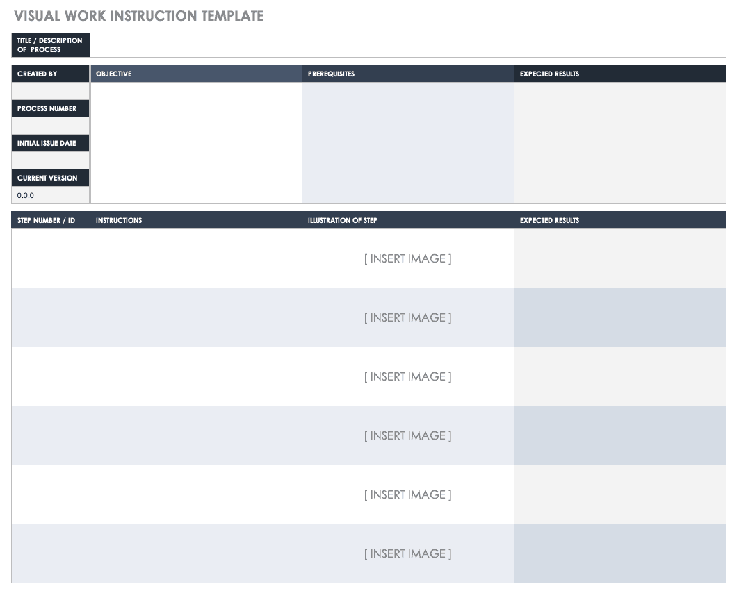 Free Work Instruction Templates