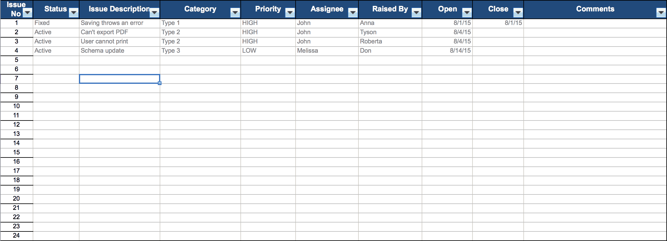 Free Excel Project Management Templates