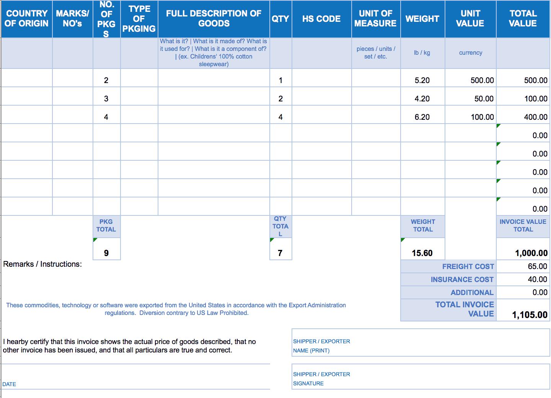 Free Excel Invoice Templates