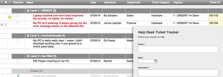 Help Desk Ticket Tracker and Form Template | Smartsheet