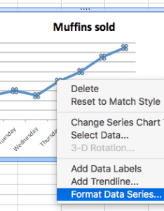 Line charts excel single change data series select also how to make graphs in smartsheet rh