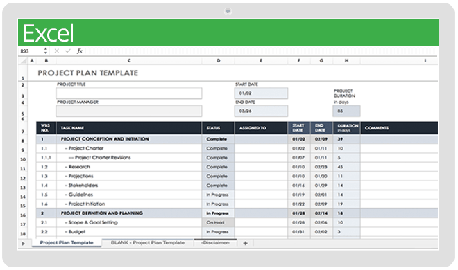 It will outline each of the manual tests within the manual test plan that can and will be automated. Top Project Plan Templates For Excel Smartsheet