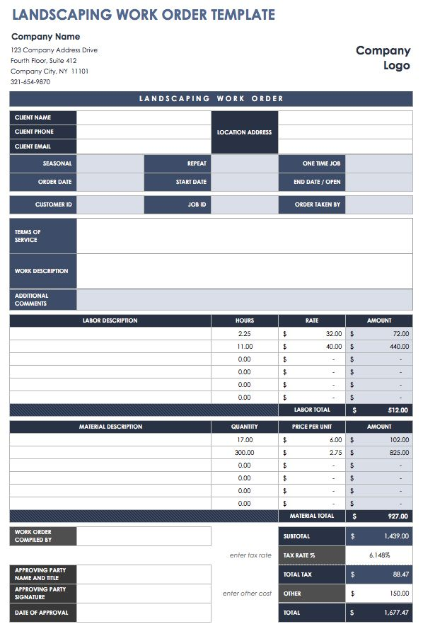 Room Design Excel Template