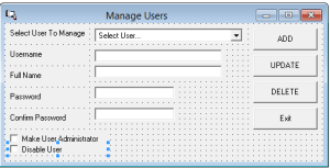 How to develop a commercial e-Statement solution in vb6 step by step – Part 7 -VB6 User Management System with SQL Server