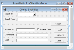 How to develop a commercial e-Statement solution in vb6 step by step – Part 8 – Send e-Statements to your Clients – Manage Client List