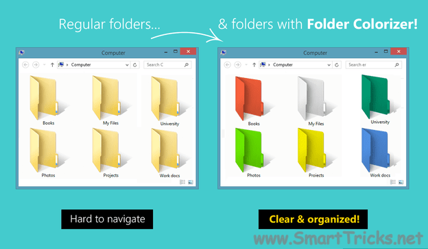 Customize folders with colors