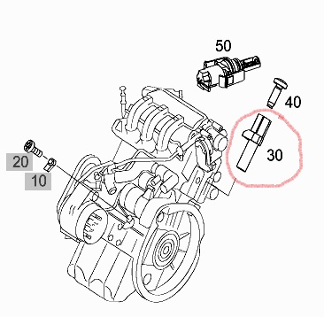 SMART ROADSTER CRANKSHAFT POSITION / SPEED SENSOR (EQ